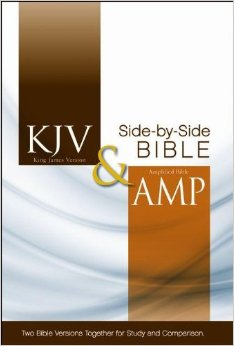 Side by Side Bible KJV AMPLIFIED Standard Print Hardcover