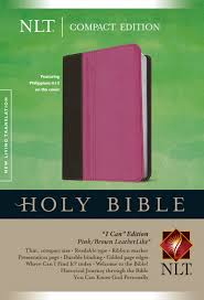 Holy Bible Compact and I can Edition Pink Brown Leatherlike