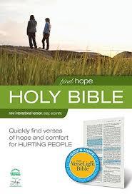 Holy Bible Find Hope NIV Verse Light Bible Hardcover