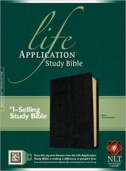 Life Application Study Bible NLT Black Bonded Leather