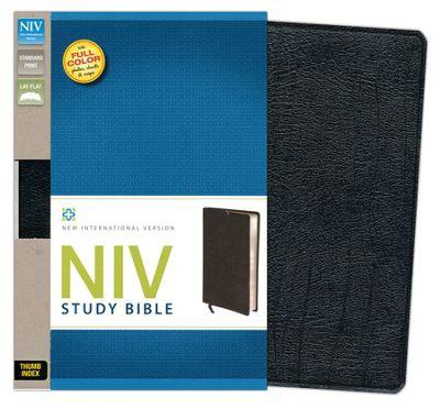 NIV Study Bible Standard Print Black Bonded Leather