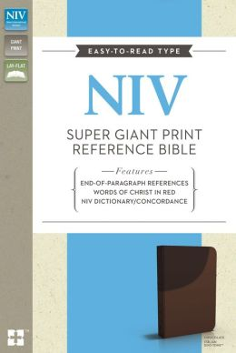 NIV Super Giant Print Reference Bible Chocolate Italian DuoTone