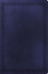 NKJV Large Print Ultra Slim Blue  Leathersoft