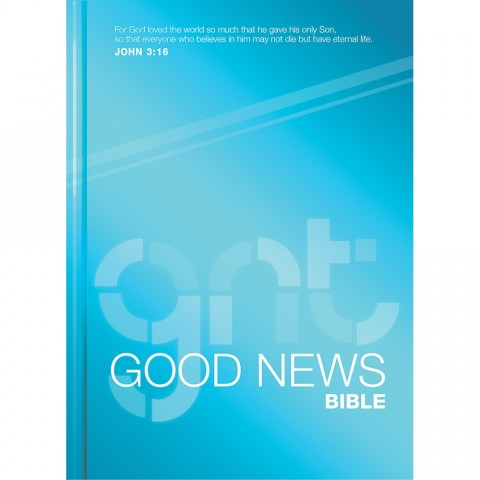 good news bible hardcover blue