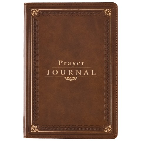 prayer journal leather brown
