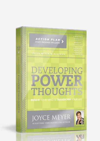 developing power thoughts joyce meyer