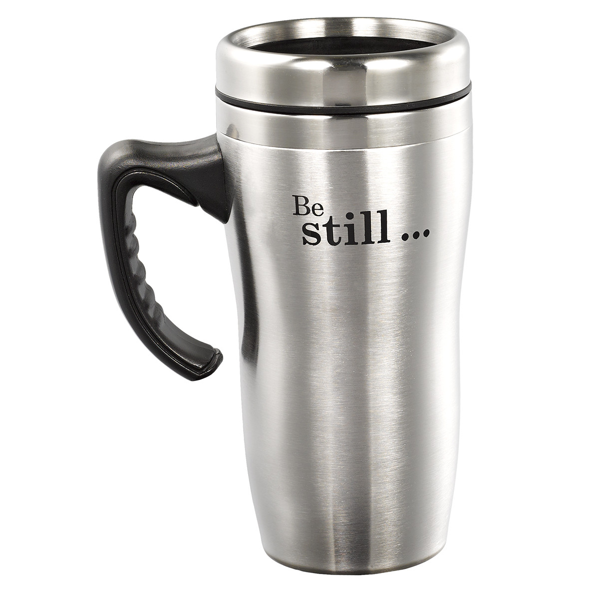 be still and know stainless steel travel mug zoe. Black Bedroom Furniture Sets. Home Design Ideas